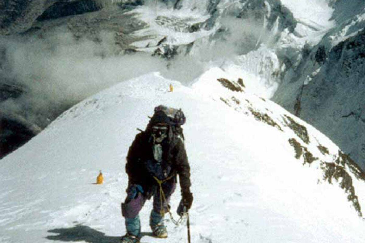 Mount Everest Expedition 1991 - Bergsteiger auf ca. 8400m Höhe | © SummitClimb 1991 - Dan Mazur