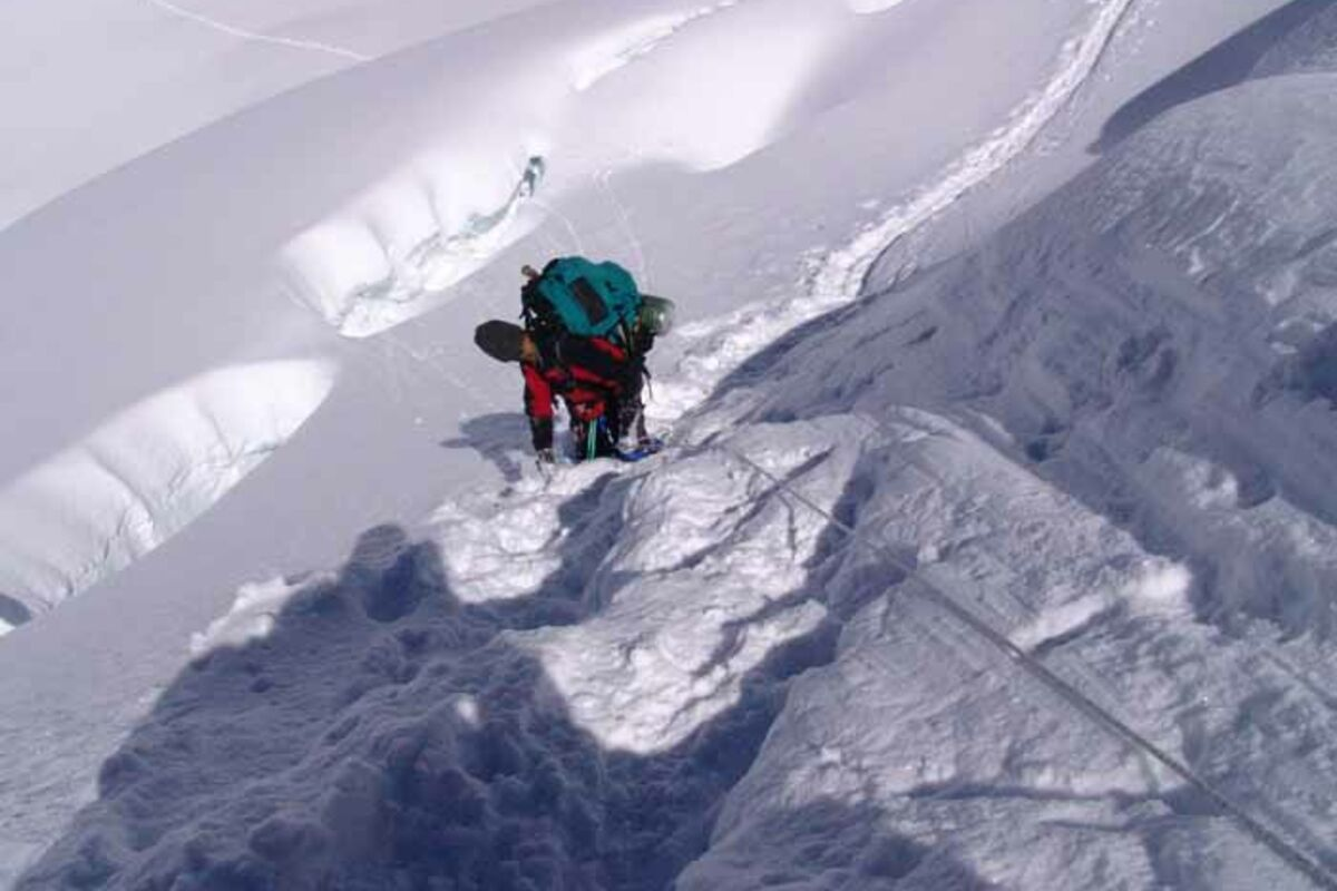 Eisklettern, Steilstufe am Cho Oyu - Expedition in Tibet | © Cho Oyu - SummitClimb
