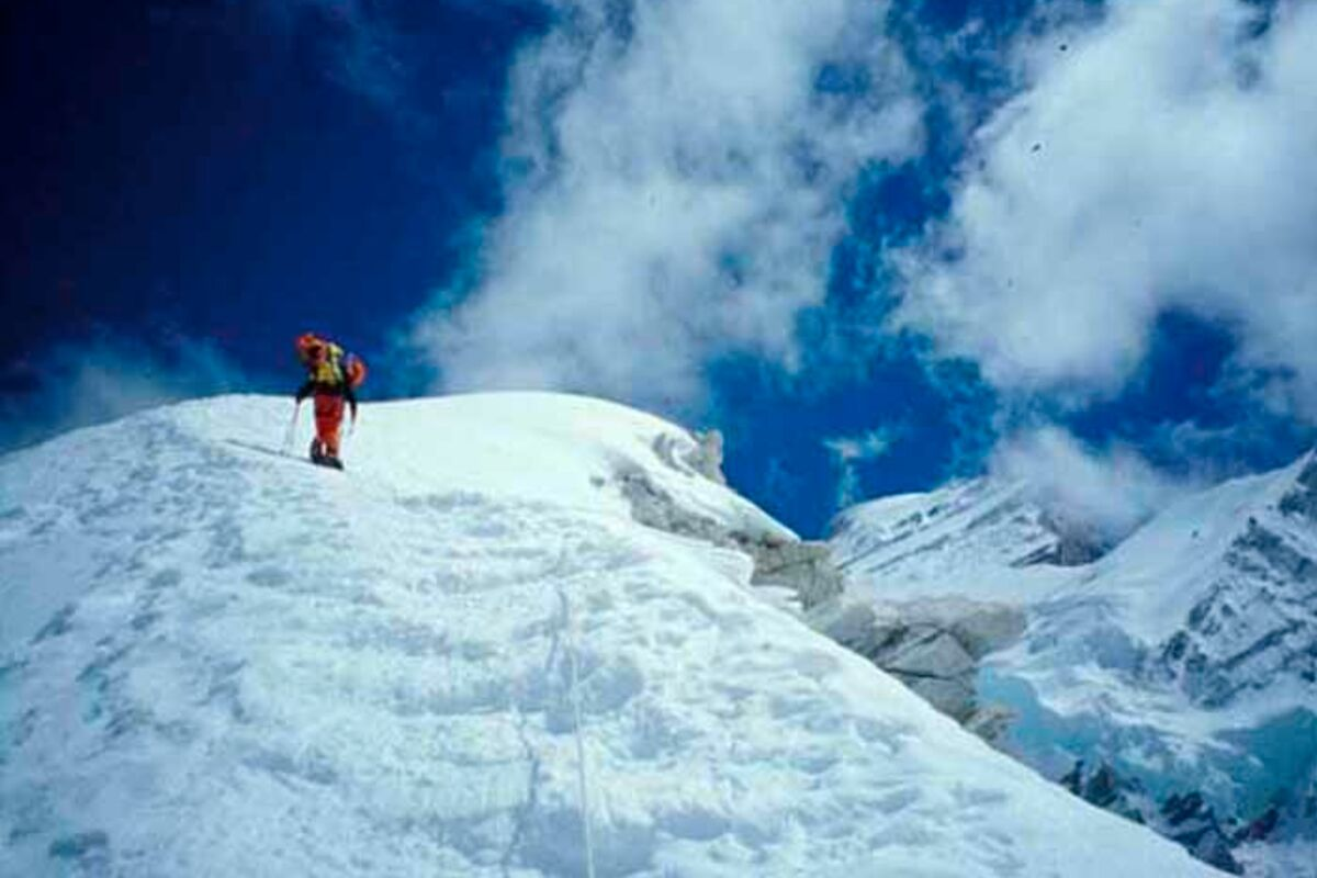 Bergsteiger am Cho Oyu beim Summit-Push | © SummitClimb Cho Oyu - TN Lepagne